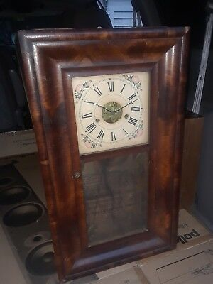 ANTIQUE 8 DAY FORESTVILLE MFG. CO. Weight clock