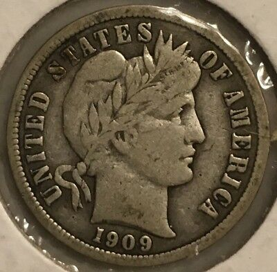 1909 P - D - O - S Silver Barber Dime Group 10c
