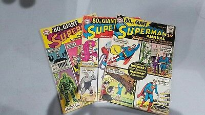 Superman 1965 Annual 80 Page Giant Issue # 1,6 and 11