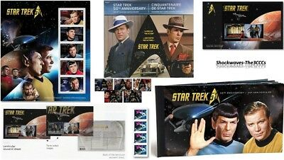 2016 Canada Post Star Trek 50th Anniversary Prestige Booklet, Postcards & Stamps