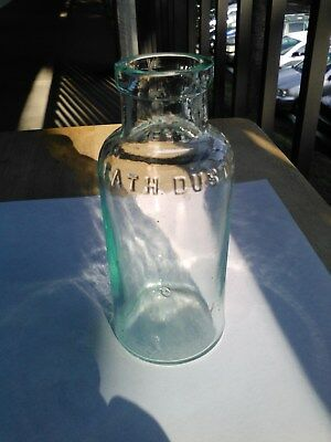 Antique Poison Bottle, Aqua Blue Glass...''death Dust'' By  A.c Meyer & Co.