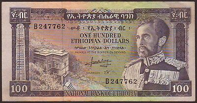 ETHIOPIA  100 Dollars  ND (1966)