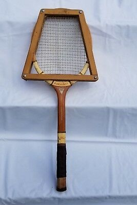 Vintage FOREST HILLS Wood Tennis Racket with Wilson Press, Use or Decor