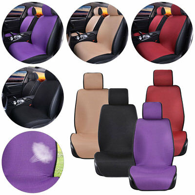 1/2pcs Car Auto Front Seat Covers SUV Breathable Mesh Cushion Mat Universal Fit