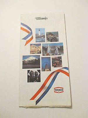 Vintage 1976 TEXACO Illinois Oil Gas Service Station State Road Map