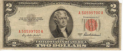 1953-A US Note, Red Seal, Medium Grade Note (R-196)