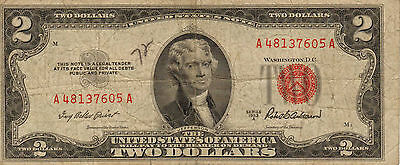 1953-A US Notes, Red Seal, Medium Grade Note (Z-8)