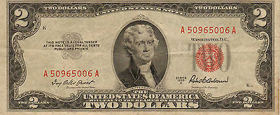 1953-A US Notes, Red Seal, High Grade Note (Z-28)
