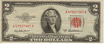 1953-A US Note, Red Seal, Medium Grade Note (R-195)