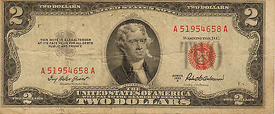 1953-A US Notes, Red Seal, Medium Grade Note (Z-30)