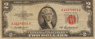 1953-A US Note Red Seal, Medium Grade Note  (Z-4)