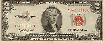 1953-A $2 US Note Red Seal,  High Grade Note  (Z-52)