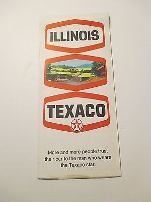Vintage 1970 TEXACO Illinois Oil Gas Service Station State Road Map