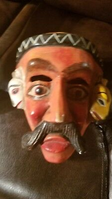 vintage Mexican dance mask