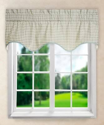 NEW - Valance - Ellis Curtain Strobe Wave Valance, 50 X 15-Inch, Bliss