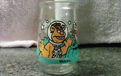 Muppets in Space #3 Fozzie Bear Gets A Giggle Welch's jelly jar 1988 Henson