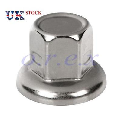 20x 32mm Stainless Steel Wheel Nut Cover Cap Scania Mercedes Volvo Iveco MAN DAF
