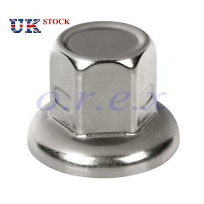20x 33mm Stainless Steel Wheel Nut Cover Cap Scania Mercedes Volvo Iveco MAN DAF