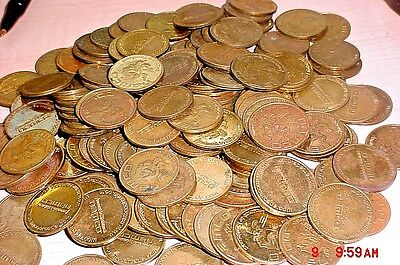 Lot of 200 MIXED  NAMCO  Arcade Brass PACMAN Video Game Coin Tokens
