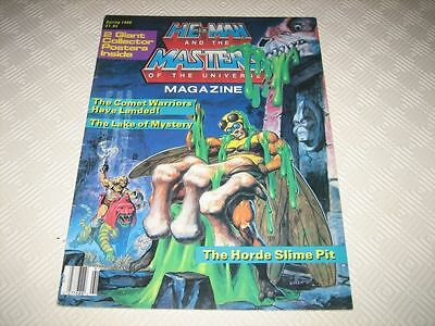 Masters Of The Universe Us Magazine - Issue #6 Spring 1986 Complete 2 Posters