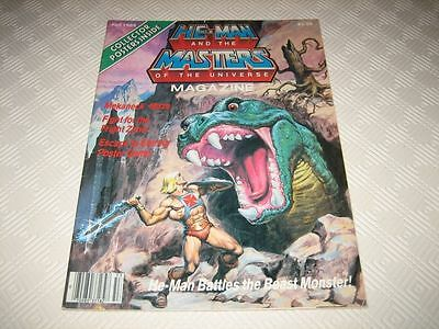 Masters Of The Universe Us Magazine - Issue #4 Fall 1985 Complete 2 Posters Motu