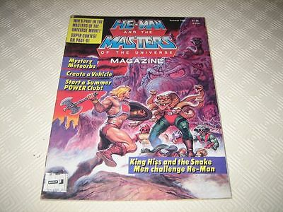 Masters Of The Universe Us Magazine - Issue #7 Summer 1986 Complete 2 Posters