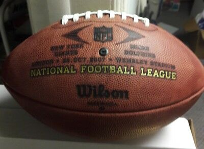 2007 Dolphins vs NY Giants Wembley Stadium Official NFL Duke Game Football
