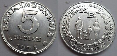 """Indonesien 5 Rupiah 1974 """"F.A.O. - Family Planning"""""""