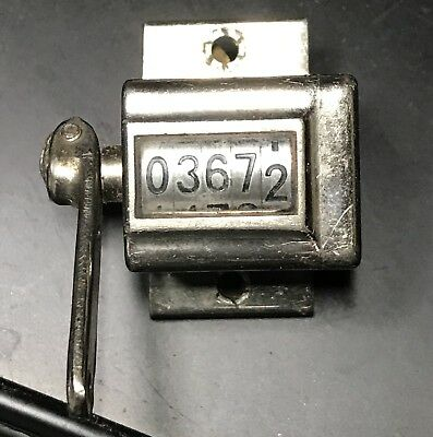 ANTIQUE VINTAGE VEEDER COUNTER 5 Digit OCT,22 1895, Aug 15 1911