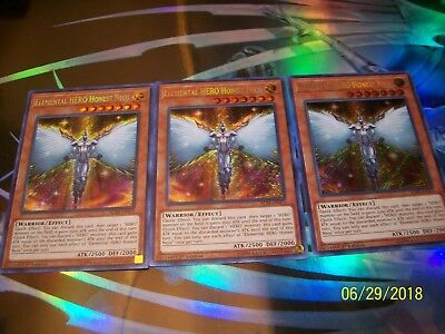 3x Elemental HERO Honest Neos 1st Edition Secret Rare BLRR-EN079 Yu-Gi-Oh!