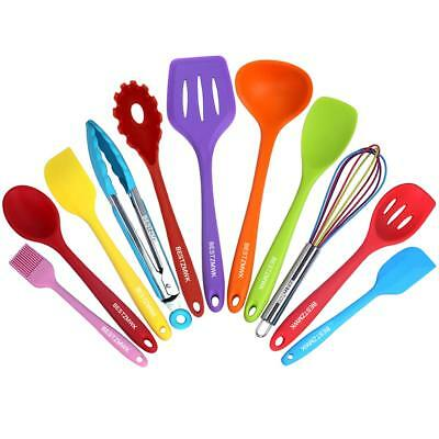 Kitchen Utensil Set 11 Cooking Utensils Colorful Silicone Utensils Nonstick