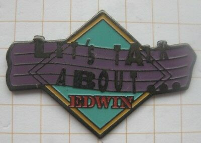 EDWIN JEANS / LET`S TALK ABOUT .................Mode Pin (171g)