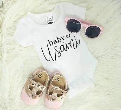 New personalised customised baby onesie1, romper, one piece, jumpsuit, bodysuit