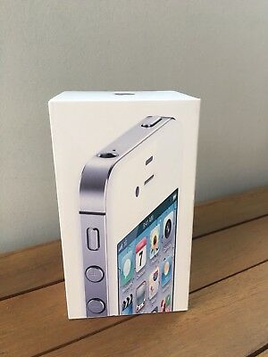 ORIGINAL GENUINE Apple iPHONE 4S White 16gb - EMPTY BOX ONLY - NO iPHONE