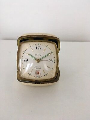 Vintage Blessing Travel Folding Alarm Clock with Date Made West Germany