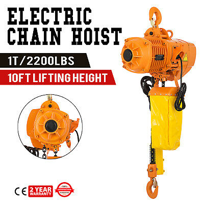 Industrial 1 Ton Electric Chain Hoist  Winches Rigging Lifting 110V 3Phase