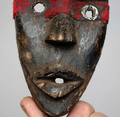 Old Vintage African Dan Passport Mask on Stand. Africa