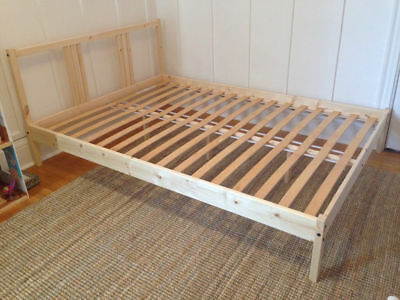 Ikea Fjellse Double Bed Frame Only 40 00 Picclick Uk