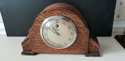 Vintage SMITHS Wood MANTEL CLOCK Synchronous Electric spairs / repair not tested