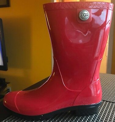 UGG 1014452 Sienna Red Rain Boots Women's Size 10 Flexible Price!!!