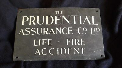 """A Vintage Brass/copper Wallplaque For """"the Prudential Assurance Co Ltd """""""