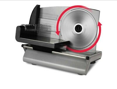 Kogan Meat Slicer 150W with Stainless Steel Blade Silver