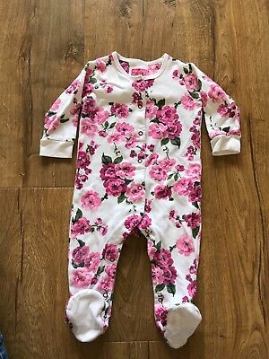 Joules girls baby grow 6-9mths