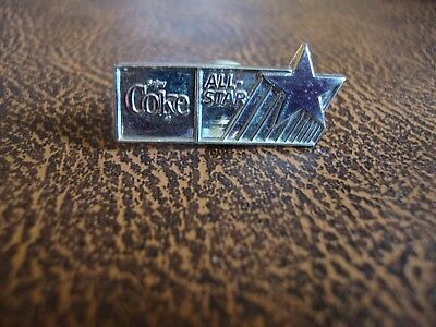 Coca Cola - Enjoy Coke , ALL-STAR pin. rare vintage marked Sterling Silver pin