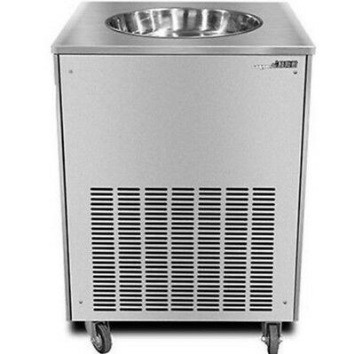 CE Single Flat Pan Fried Ice Cream Machine Fried Ice Cr eam Maker Commercial