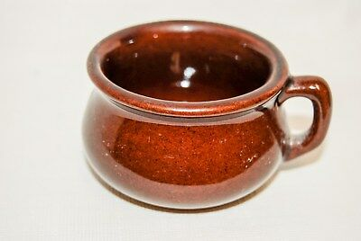 Vintage Pottery Minature Chamber Pot Cup Monmooth, ILL Pre - 1941