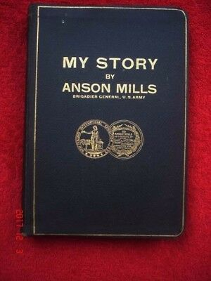 SIGNED 1918 My Story by Anson Mills Cartridge Belt Spanish American War WWI