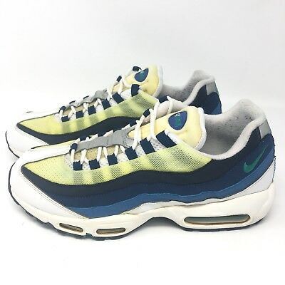 NIKE AIR MAX 95 OG White Emerald Green Blue 554970 131 Size 12 M