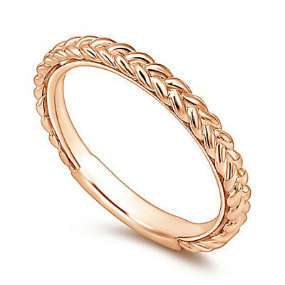Fashion 925 Silver,rose Gold Filled Wedding Rings for Women Size 6-10