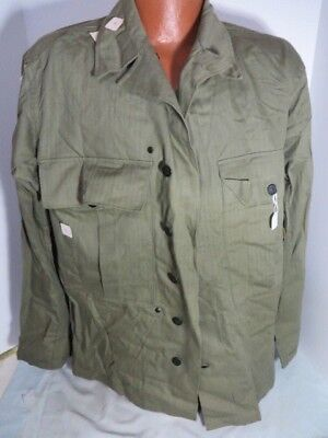 WW2 US Army NOS MINT HBT 2nd Pattern Fatigue Jacket with cutter tags